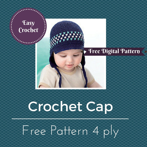 Crochet Cap with Earflaps
