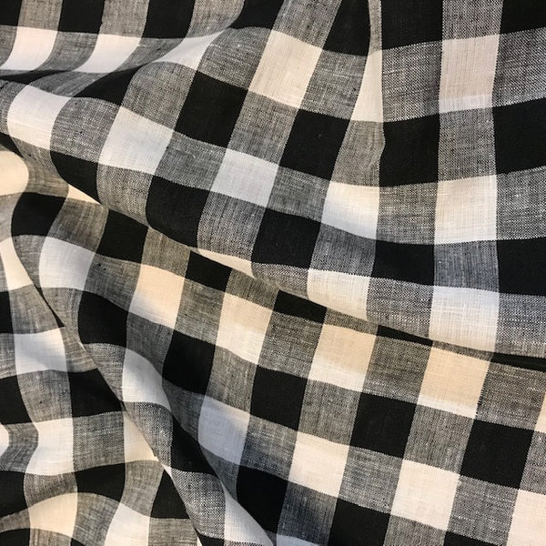Large Check Linen