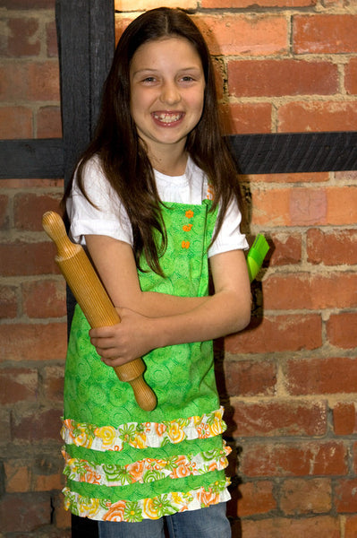 Crumbz Little Olive Apron (click to view colour range)