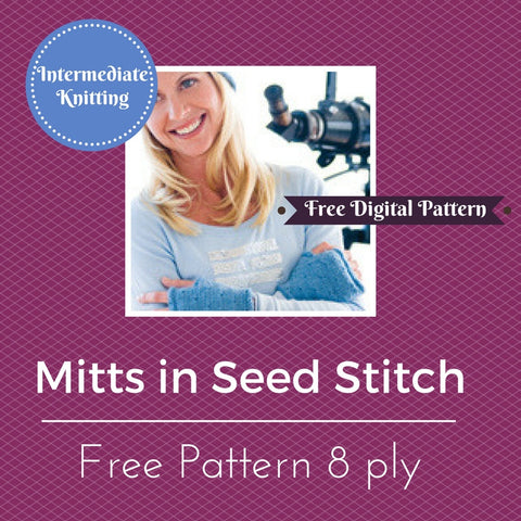 Mitts in Seed Stitch