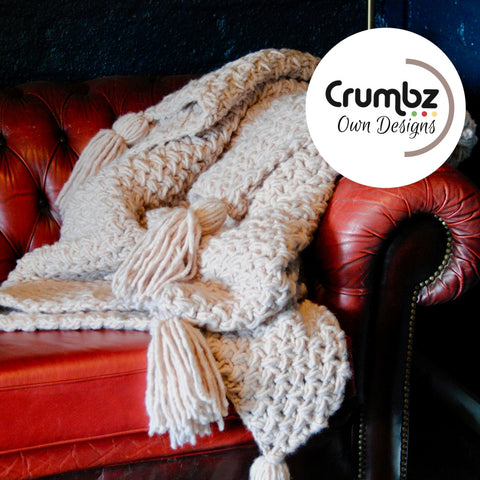 COD003 Chunky Crochet Throw (Digital Pattern)