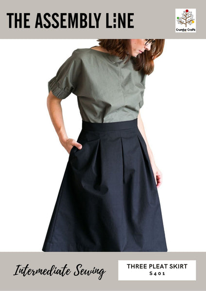 S401 Three Pleat Skirt