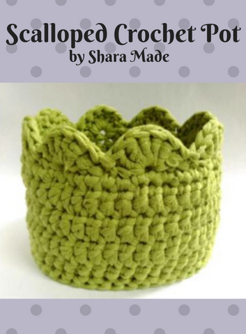 1514 Scalloped Crochet Pot (Digital Pattern)