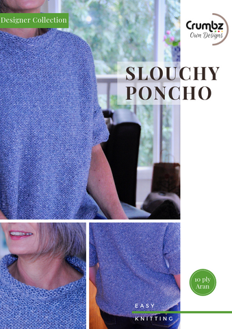 Slouchy Poncho 10 ply (Digital Pattern)