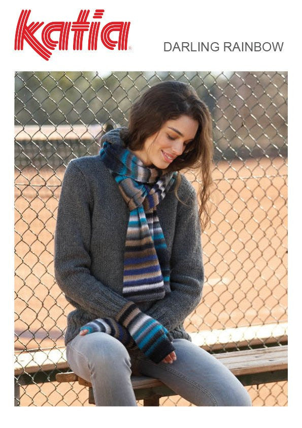 Darling Rainbow Scarf & Mitts
