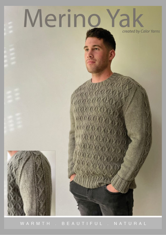 CY197 Man's Diamond Sweater (e-pattern)