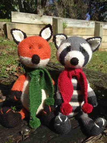 Cameron James Designs - Chase the Fox and Rascal the Raccon