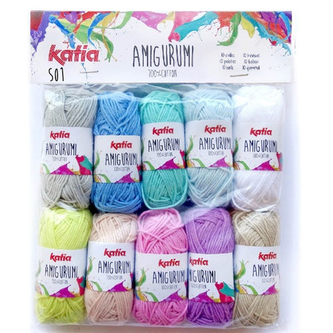 Amigurumi Multicolour Cotton Packs