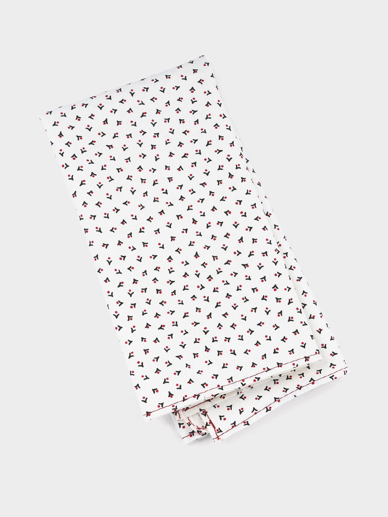 Cotton pocket square in black arrow print