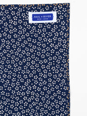 Pocket Square in Navy Blossoms