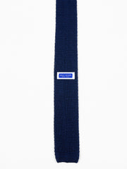 Anderson Silk Knit Tie in Navy