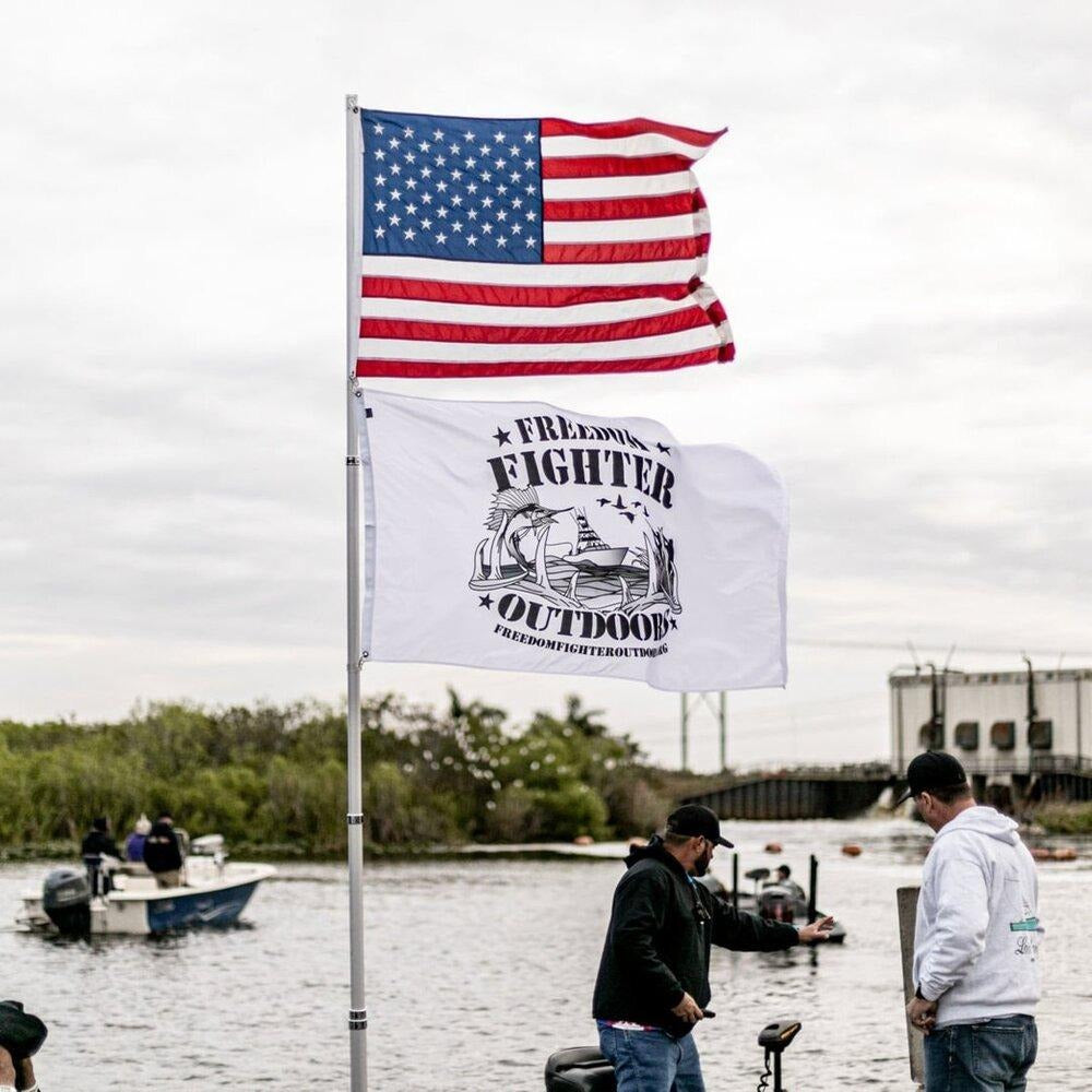 American and Freedom Fighter Outdoors flags