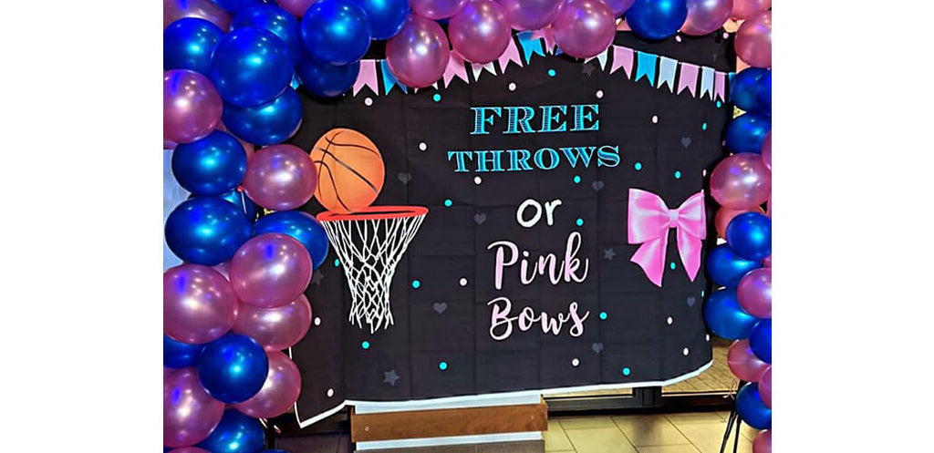 How to decorate your baby shower party with gender reveal backdrop from Lofaris