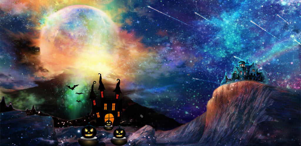 The best Halloween backdrop for all ages!