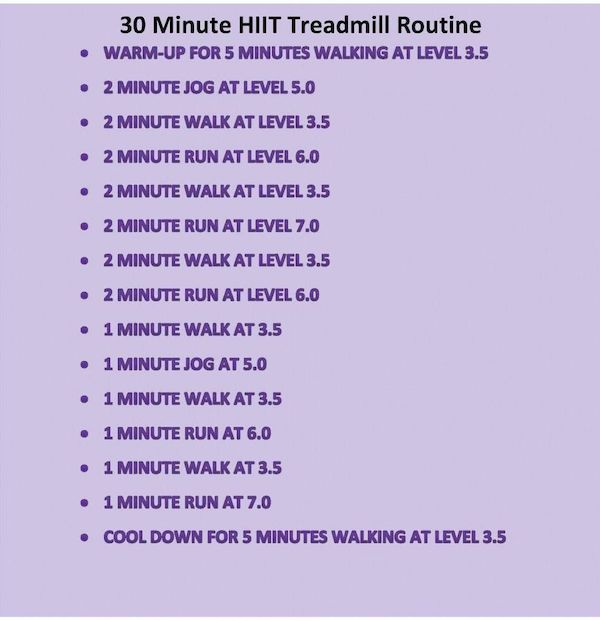 hiit cardio workout - Google Search | Hiit treadmill