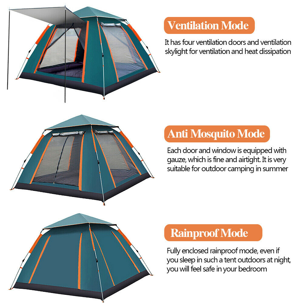 3 Modes of camping tent