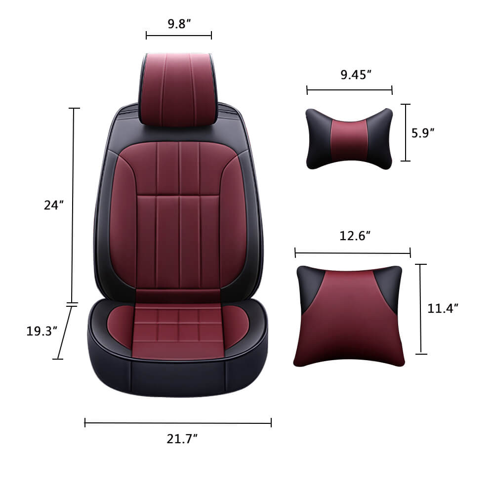 Car Front Seat Cover and Pillows Size