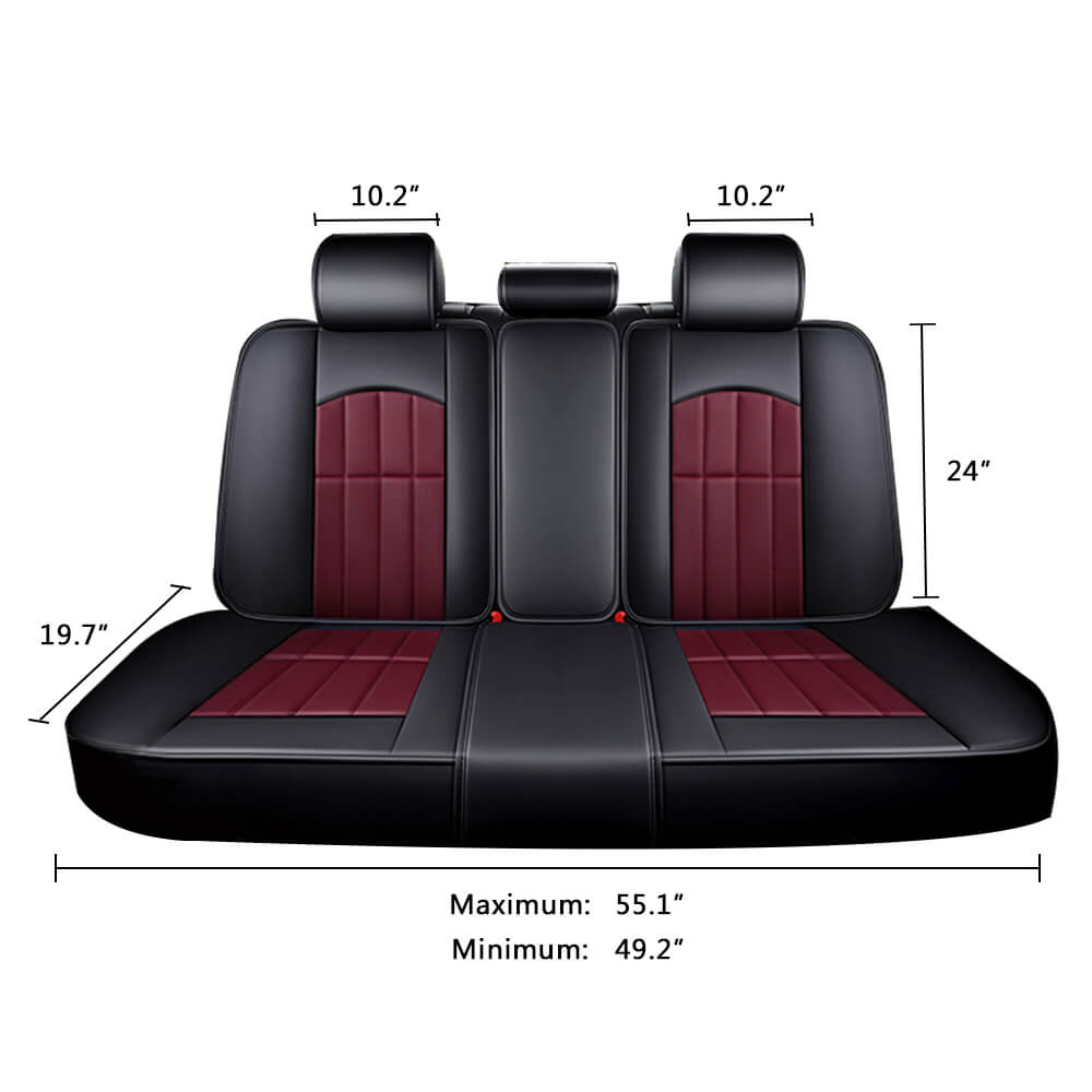 Car back seats cover size