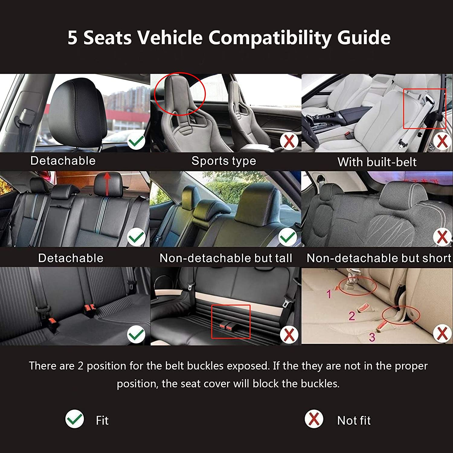 5 Seat Vehicle Compatibility guide
