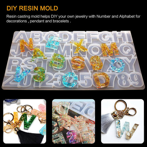 Alphabet Resin Silicone Casting Mold