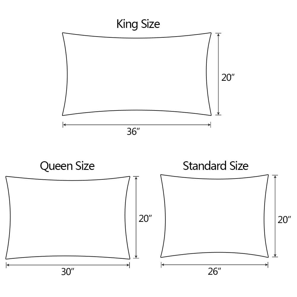 The sizes of the pillow cover