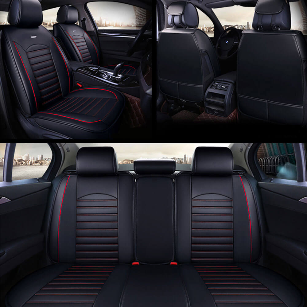 Black Striped Seat Covers