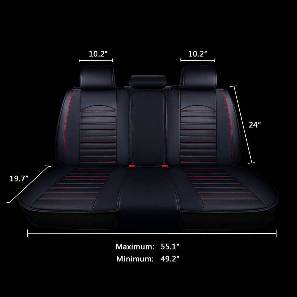 Black Car Rear Seat Cover Size