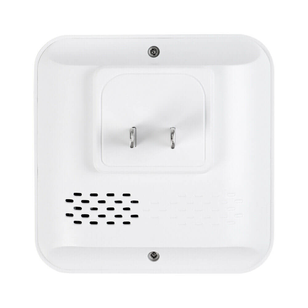 The backside of the outdoor doorbell chime
