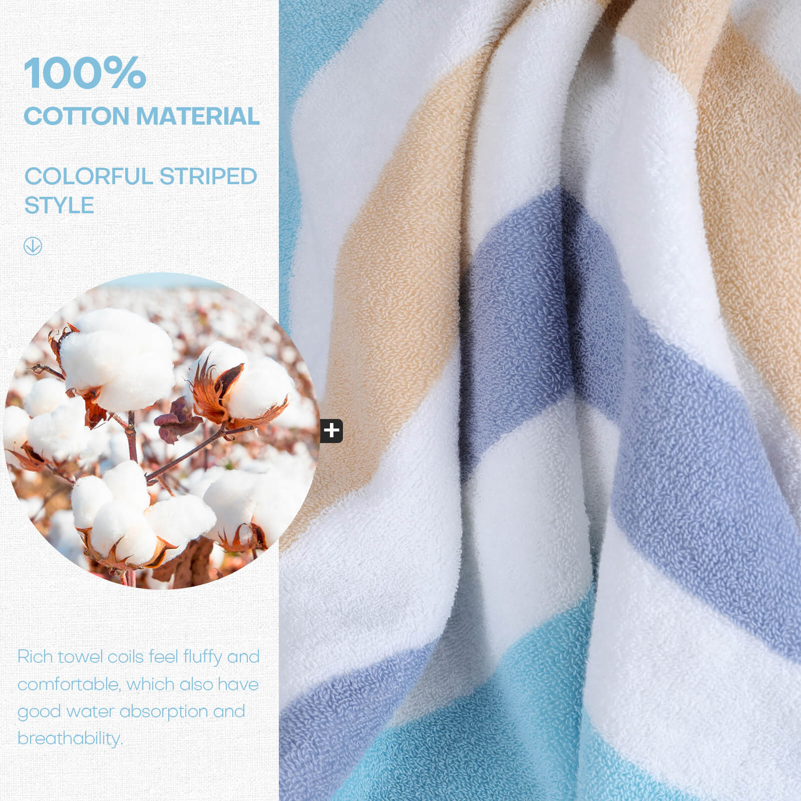 Material of the Egyptian cotton bath towel set
