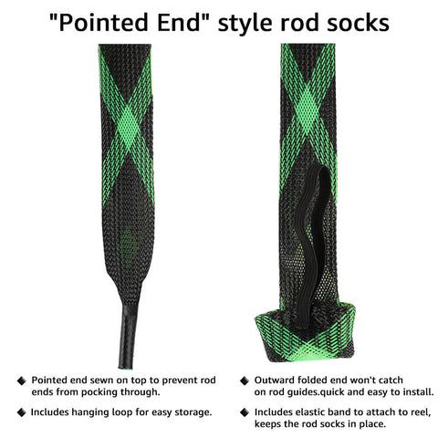The style of the fishing rod sleeve covers