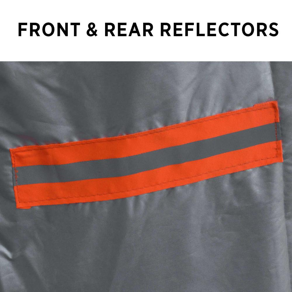Car cover with front and rear reflectors