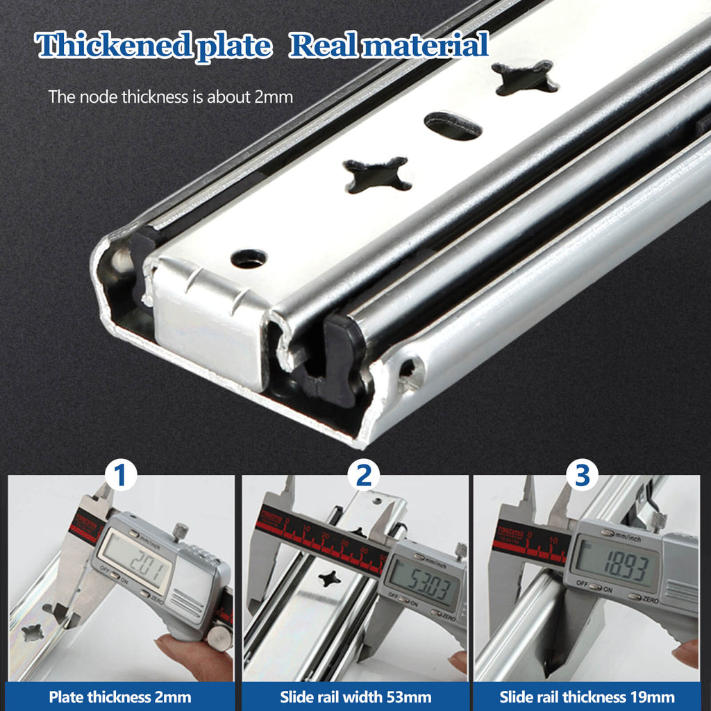 Material of the heavy duty drawer slides
