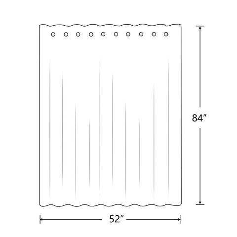 The size of the room divider curtain panel