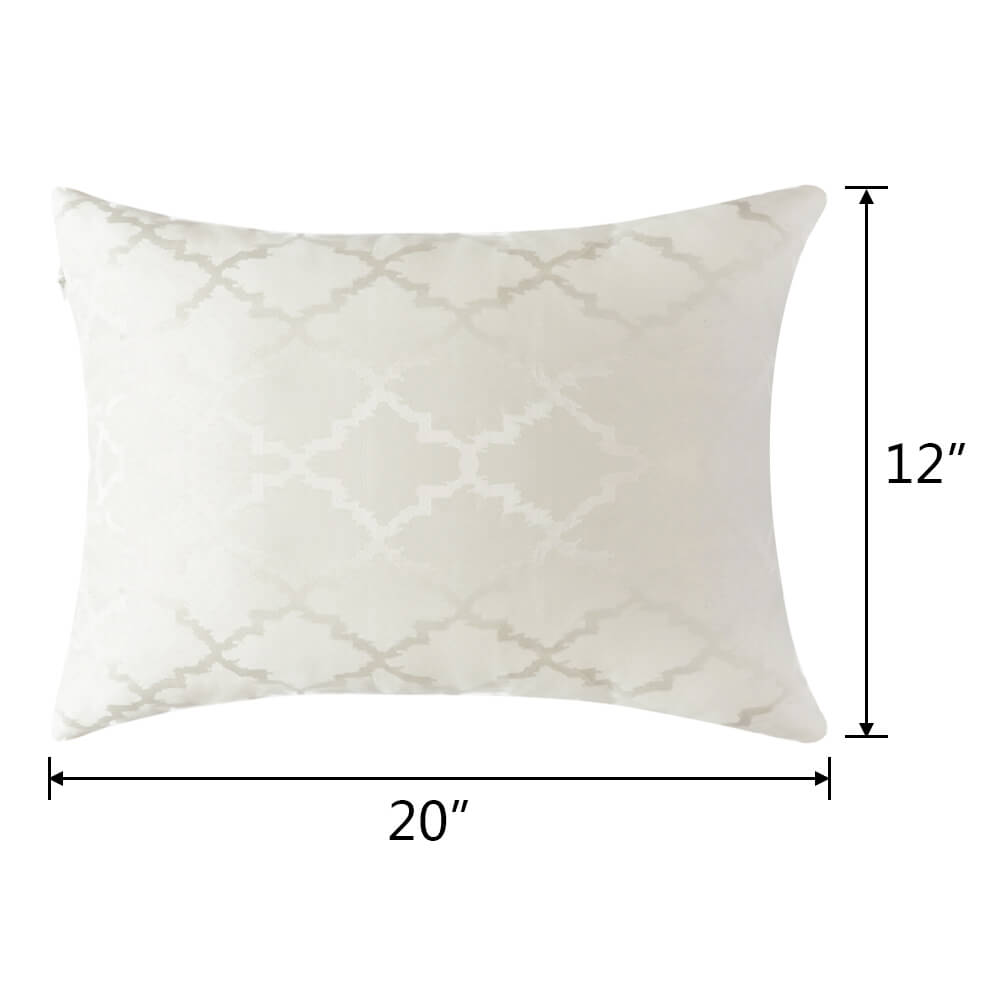 The size of  12×20in square polyester pillow case