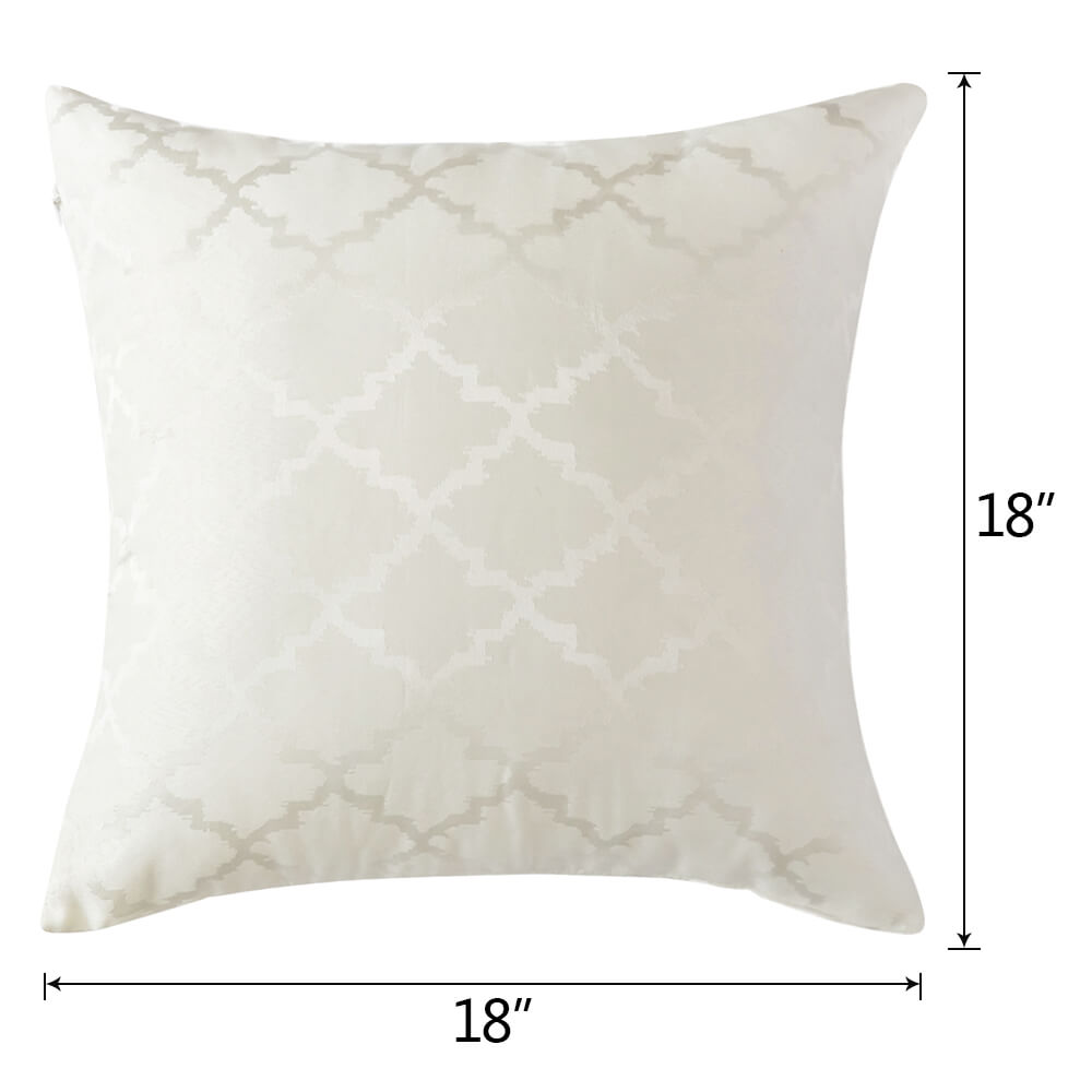 The size of  18×18 in square polyester pillow case
