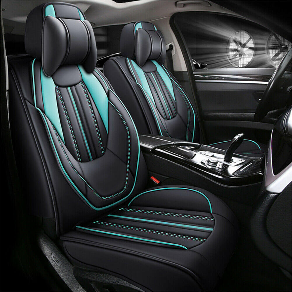 Blue front car seat covers