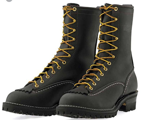 "Wesco Jobmaster 10"" Black Boots Lace-to-Toe 110-100 Black West Coast Shoe Company USA Made"