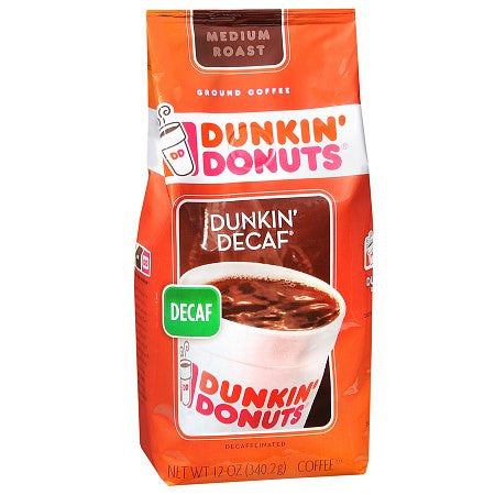 Dunkin' Donuts Ground Coffee 11 OZ Decaf, Columbia, French Vanilla, Original