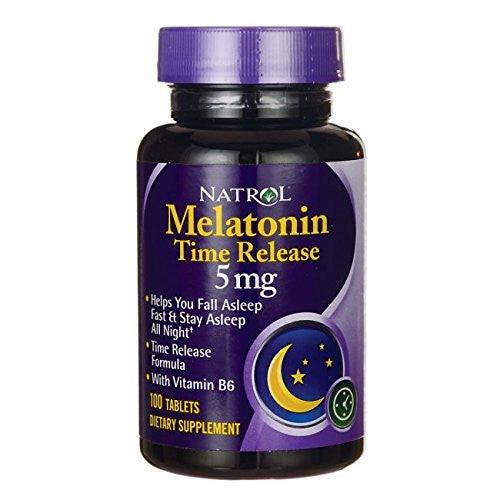Melatonin 5mg Time Release Sleep Aide - 100 - Tablet