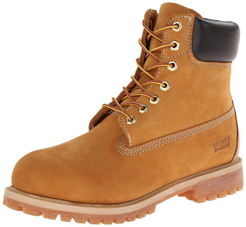 Levis Men's Harrison Construction Boots Tan Suede Wheat Work Shoes