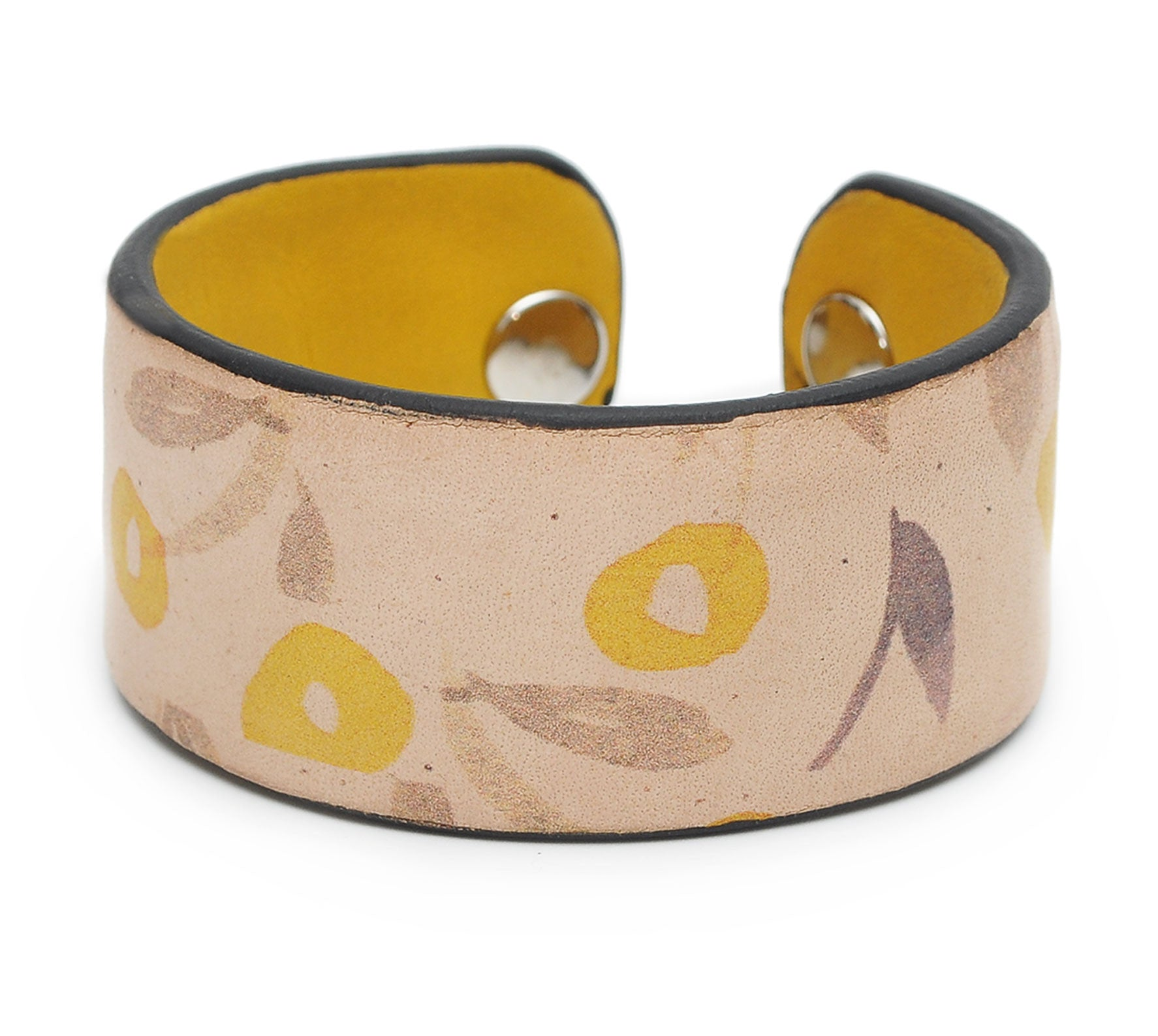 Cute Flowers Print Handmade Leather Bracelet Jewelry HLB_01