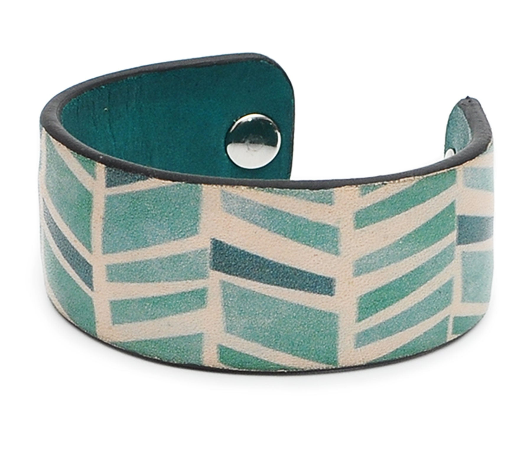 Seamless Geometric Pattern Print Handmade Leather Bracelet Jewelry HLB_01