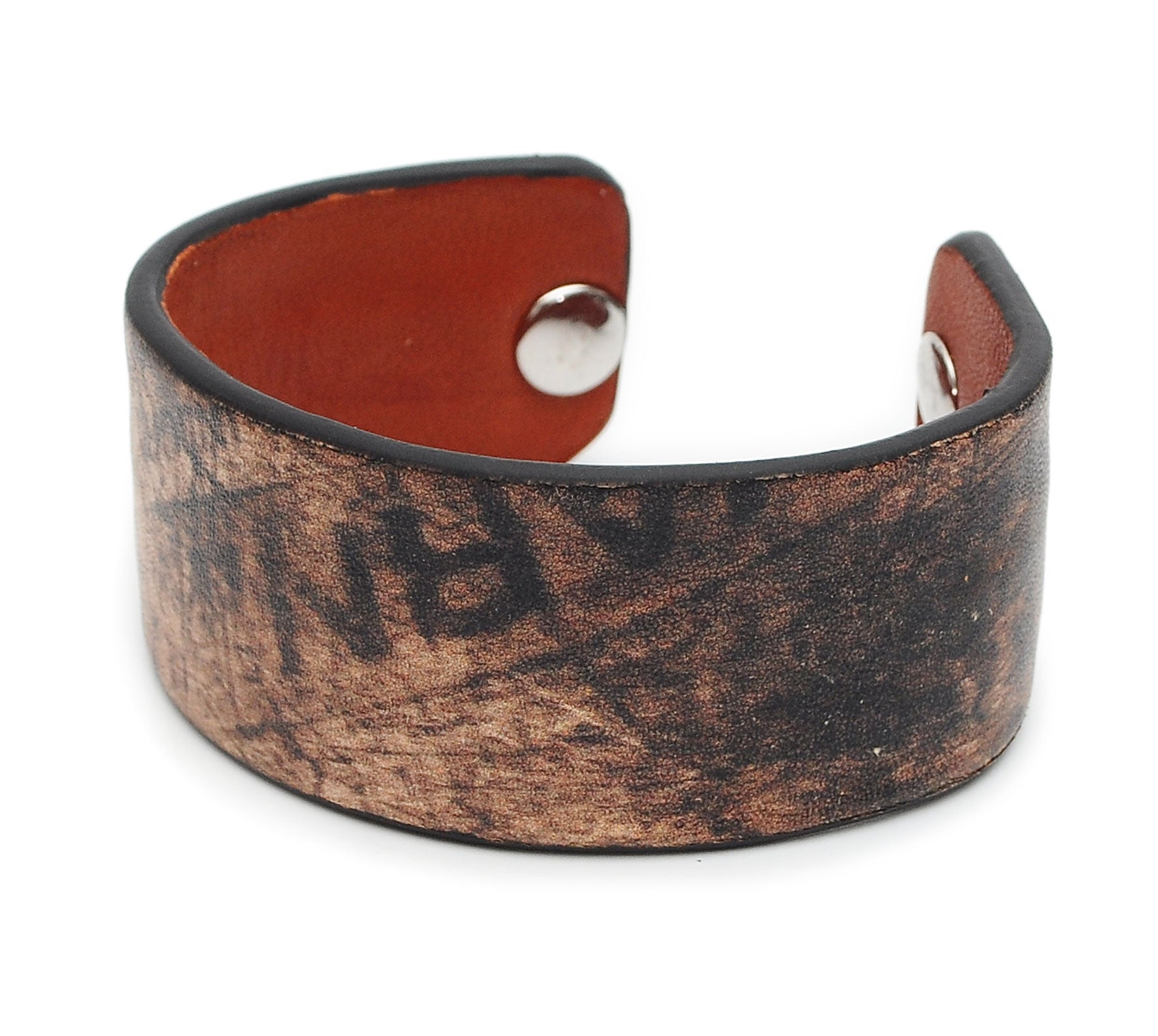 Grunge Style Pattern Print Handmade Leather Bracelet Jewelry HLB_01
