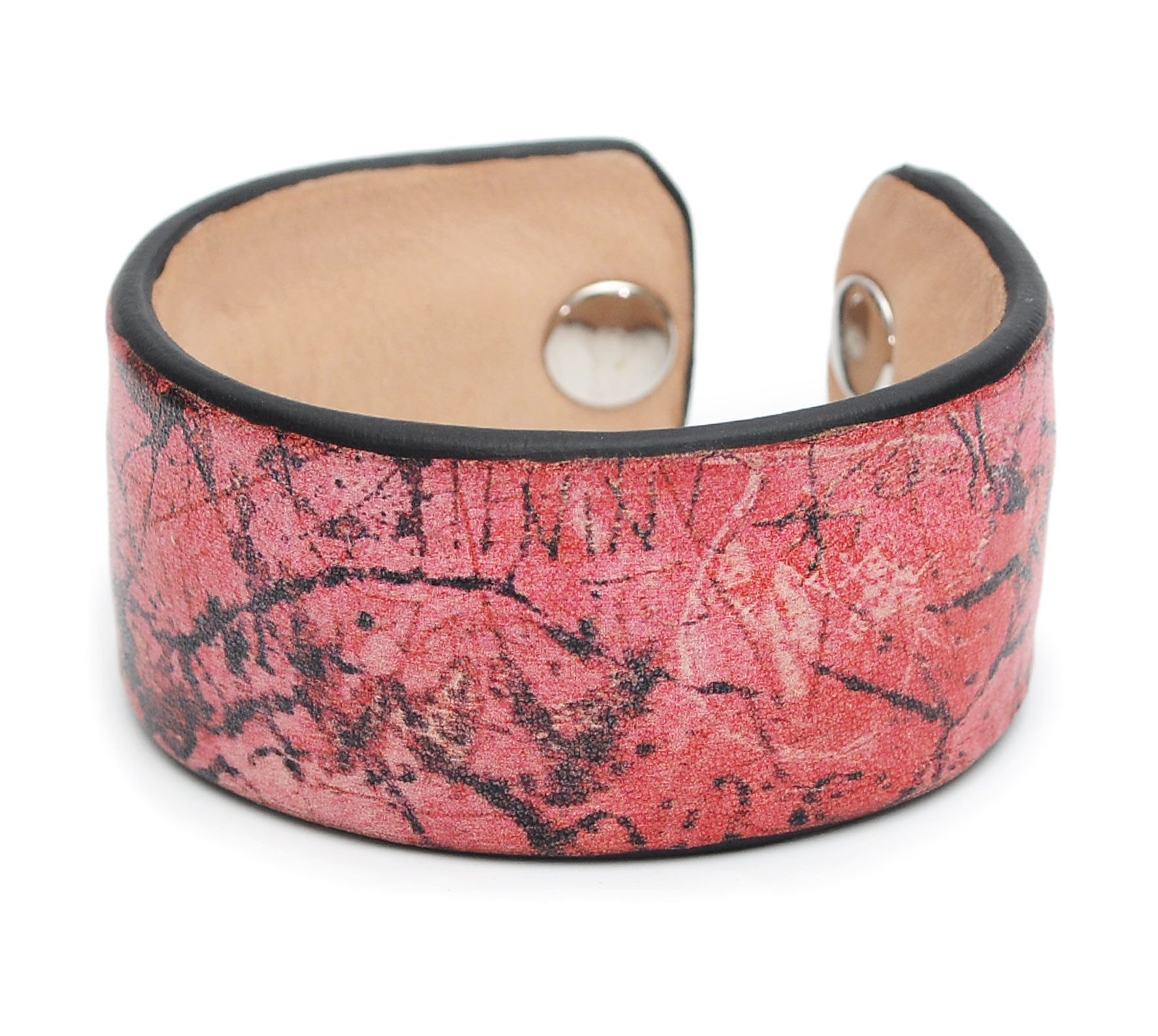 Graffiti Wall Print Handmade Leather Bracelet Jewelry HLB_01
