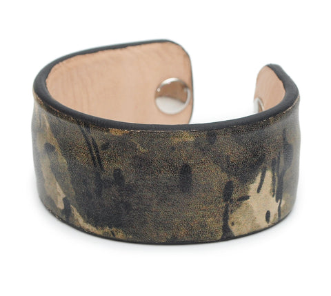 Camo Army Print Handmade Leather Bracelet Jewelry HLB_01