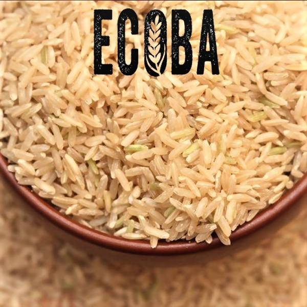 ECOBA Organic Long Grain Brown Rice, 35oz (1.000g) - Vietnam Delecious Rice, Finest Natural, 3 Organic Certifications USDA - JAS - EU