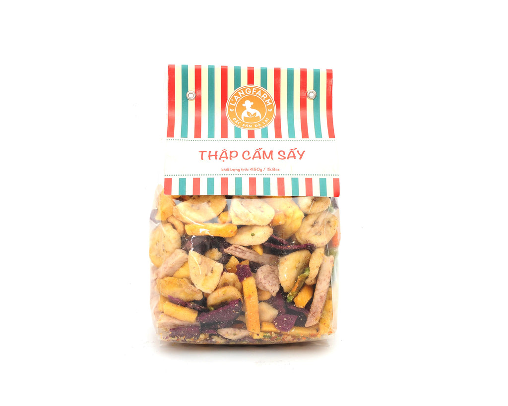 L'angfarm Langfarm Natural Organic Dried Mixed Vegetables Snack Crunchy Chip