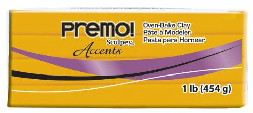 Premo Clay Sculpey Accents, Silver or Gold, One Pound PE1 5129  or PE1 5303