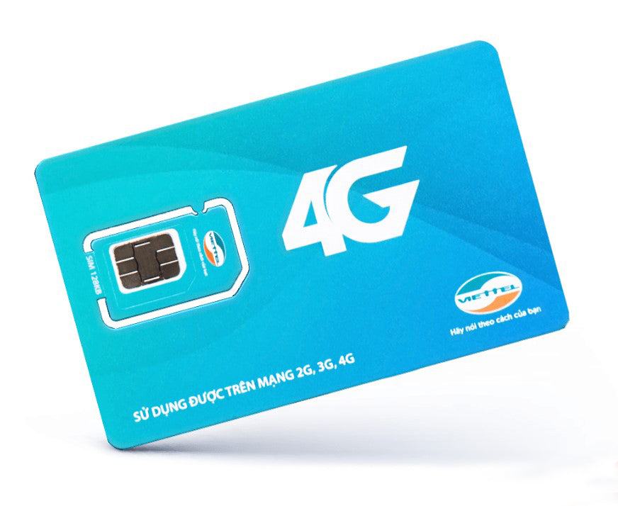 Viettel Prepaid Micro Sim Cards for Smart phone 4G For Vietnam Unlimited internet