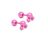 1 Stainless Three Studs Earrings Body Piercing Jewelry